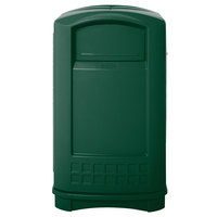 Rubbermaid FG396400GRN Plaza Dark Green Container with Side Opening 50 Gallon