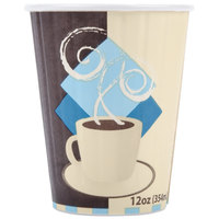 Dart Solo IC12-J7534 Duo Shield 12 oz. Poly Paper Hot Cup - 40/Pack