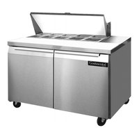 Continental Refrigerator SW48-10 48 inch 2 Door Refrigerated Sandwich Prep Table