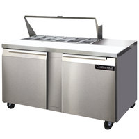 Continental Refrigerator SW60-12 60 inch 2 Door Refrigerated Sandwich Prep Table
