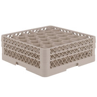 Vollrath TR12HA Traex® Rack Max Full-Size Beige 30-Compartment 6 3/8 inch Glass Rack with Open Rack Extender On Top