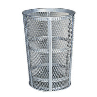 Rubbermaid FGSBR52 Round Galvanized Steel Street Basket 45 Gallon