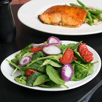 10 Strawberry Street RVL0008 Royal Oval 9 inch White Porcelain Salad / Dessert Plate - 24/Case