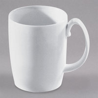 10 Strawberry Street AUR-100 Aurora Square 12 oz. White Porcelain Barrel Mug - 12/Case