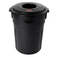 Rubbermaid FG9W1400 Landmark Series Gas Station / Store Front Black Light Duty Container Combo 32 Gallon (FG9W1400BLA)