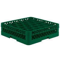 Vollrath TR12A Traex® Rack Max Full-Size Green 30-Compartment 4 13/16 inch Glass Rack with Open Rack Extender On Top