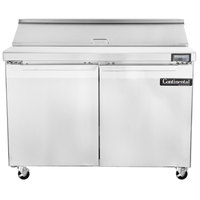 Continental Refrigerator SW48-12 48 inch 2 Door Refrigerated Sandwich Prep Table