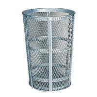 Rubbermaid FGSBR52BK Black Round Steel Street Basket 45 Gallon