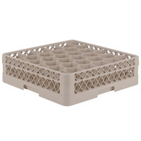 Vollrath TR12A Traex Rack Max Full-Size Beige 30-Compartment 4 13/16 inch Glass Rack with Open Rack Extender On Top