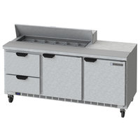 Beverage-Air SPED72HC-12-2 72 inch 2 Door 2 Drawer Refrigerated Sandwich Prep Table