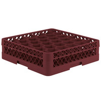 Vollrath TR12A Traex Rack Max Full-Size Burgundy 30-Compartment 4 13/16 inch Glass Rack with Open Rack Extender On Top