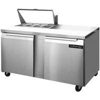 Continental Refrigerator SW60-8 60 inch 2 Door Refrigerated Sandwich Prep Table