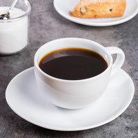 10 Strawberry Street RVL0009 Royal Oval 10 oz. White Porcelain Oversized Cup / Saucer - 24/Case