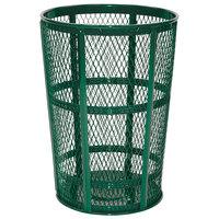 Rubbermaid FGSBR52GRN Moss Green Round Steel Street Basket 45 Gallon
