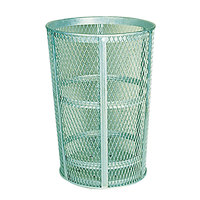 Rubbermaid FGSBR52 Moss Green Round Steel Street Basket 45 Gallon (FGSBR52GRN)