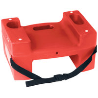 Koala Kare Booster Buddies KB116-S-03 Red Plastic Booster Seat - Dual Height with Safety Strap - 5/Pack