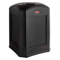Rubbermaid FG9W0000BLA Landmark Series Gas Station / Store Front Black Standard Funnel Top Container 35 Gallon