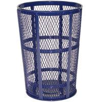 Rubbermaid FGSBR52COB Cobalt Blue Round Steel Street Basket 45 Gallon