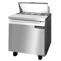 Continental Refrigerator SW32-8 32 inch Refrigerated Sandwich / Salad Prep Table