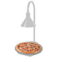 Hatco GRSSR20-DL77516 Glo-Ray 20 inch White and Sawgrass Heated Stone Shelf with Display Lamp - 120V, 650W
