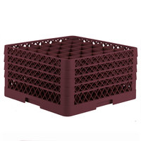 Vollrath TR7CCCC Traex® Full-Size Burgundy 36-Compartment 9 7/16 inch Glass Rack
