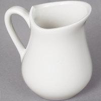 10 Strawberry Street WTR-3JUG Whittier 4 oz. White Porcelain Jug - 12/Case