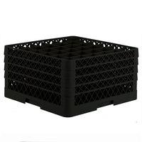 Vollrath TR7CCCC Traex® Full-Size Black 36-Compartment 9 7/16 inch Glass Rack
