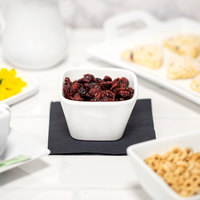 10 Strawberry Street WTR-3TPRBWL Whittier 5 oz. White Square Porcelain Tapered Bowl - 36/Case