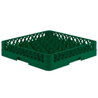 Vollrath TR12 Traex® Rack Max Full-Size Green 30-Compartment 3 1/4 inch Glass Rack