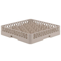 Vollrath TR12 Traex® Rack Max Full-Size Beige 30-Compartment 3 1/4 inch Glass Rack