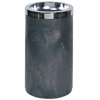 Rubbermaid FG258500BLA Classic Black Cigarette Receptacle with Metal Ashtray Top