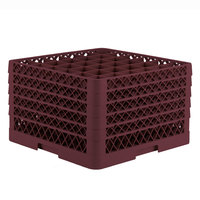 Vollrath TR7CCCCC Traex® Full-Size Burgundy 36-Compartment 11 inch Glass Rack