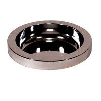 Rubbermaid FG258800CHRM Classic Round Metal Ashtray Top for FG258500, FG258600 Bases
