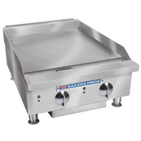 Bakers Pride BPHMG-2424i Natural Gas 24 inch Heavy Duty Manual Control Countertop Griddle - 80,000 BTU