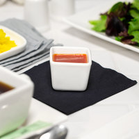 10 Strawberry Street WTR-2SQTBBWL Whittier 2 oz. White Square Porcelain Tid Bit Bowl - 36/Case
