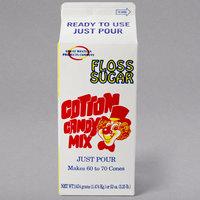 Great Western 1/2 Gallon Carton Strawberry Cotton Candy Floss Sugar - 6/Case