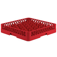Vollrath TR12 Traex® Rack Max Full-Size Red 30-Compartment 3 1/4 inch Glass Rack