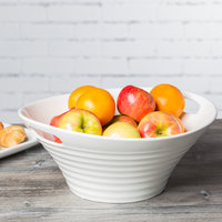10 Strawberry Street OSLO-13DEEPHNDLBWL Oslo 13 inch White Porcelain Deep Handle Bowl - 6/Case