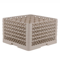 Vollrath TR7CCCCC Traex® Full-Size Beige 36-Compartment 11 inch Glass Rack