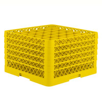 Vollrath TR7CCCCC Traex® Full-Size Yellow 36-Compartment 11 inch Glass Rack