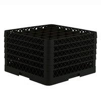 Vollrath TR7CCCCC Traex® Full-Size Black 36-Compartment 11 inch Glass Rack