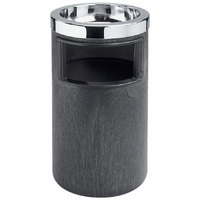 Rubbermaid FG258600BLA Classic Black Floor Smoking Ash/Trash with Urn, Metal Ashtray Top and Metal Liner