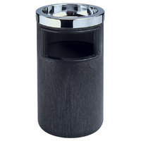 Rubbermaid FG258600 Classic Black Floor Smoking Ash/Trash with Urn, Metal Ashtray Top and Metal Liner (FG258600BLA)