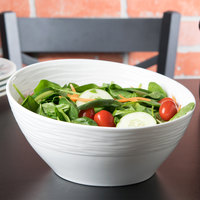 10 Strawberry Street HLD-10OVSLNTBWL Highland 1.5 Qt. White Oval Porcelain Slant Bowl - 12/Case