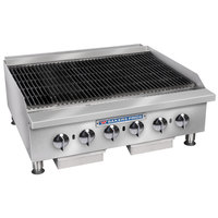 Bakers Pride BPHCB-2424i Natural Gas 24 inch Heavy Duty Radiant Charbroiler - 80,000 BTU