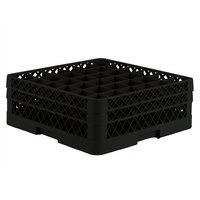 Vollrath TR7CC Traex® Full-Size Black 36-Compartment 6 3/8 inch Glass Rack