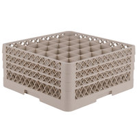 Vollrath TR7CCC Traex® Full-Size Beige 36-Compartment 7 7/8 inch Glass Rack