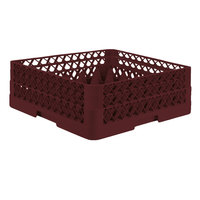 Vollrath TR7CA Traex® Full-Size Burgundy 36-Compartment 6 3/8 inch Glass Rack with Open Rack Extender On Top