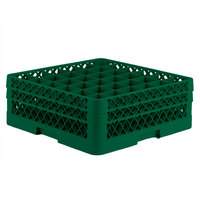 Vollrath TR7CC Traex® Full-Size Green 36-Compartment 6 3/8 inch Glass Rack