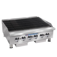 Bakers Pride BPHCRB-2436i Liquid Propane 36 inch Heavy Duty Glo-Stone Charbroiler - 120,000 BTU